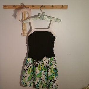 Amy Byer Size 14 Black Green Butterfly Party Dress